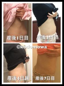 出産後の体重、お腹の変化
