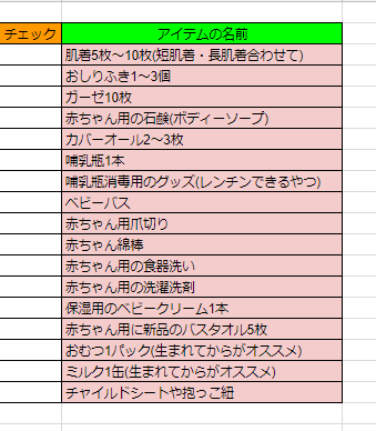 夏生まれの赤ちゃんの出産準備リスト